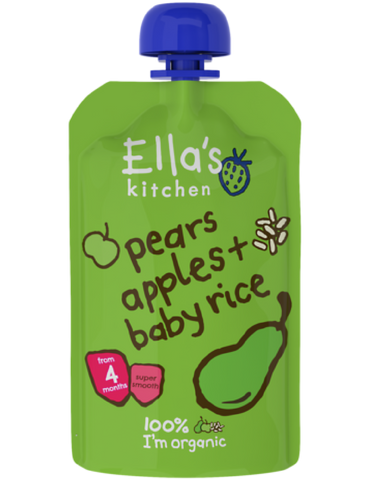 pears apples + baby rice - 7 x 120 g