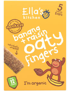 banana + raisin oaty fingers - 8 x 125 g