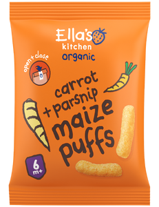 carrot + parsnip maize puffs 4 x 20 g