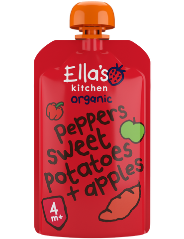red peppers sweet potatoes + apples - 7 x 120 g