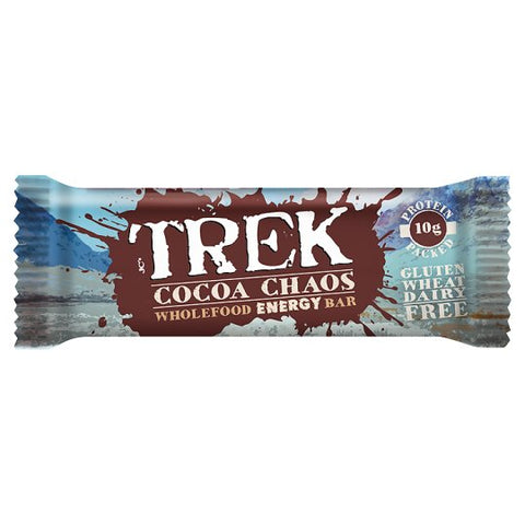 TREK Cocoa Chaos Wholefood Energy Bar - 16 x 55 g