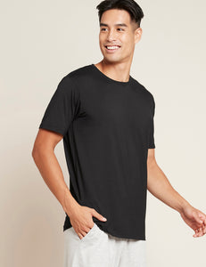 Men's Crew Neck T-Shirt - Sort - Side | Boody Basic