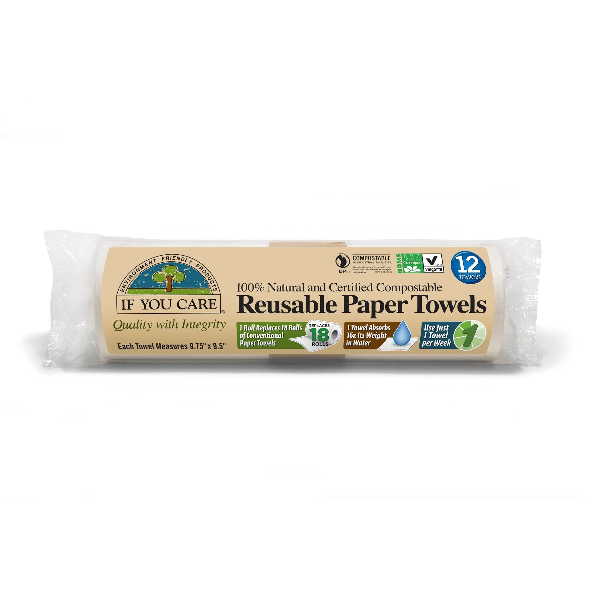Reusable Paper Towels - 12 x 12 towels