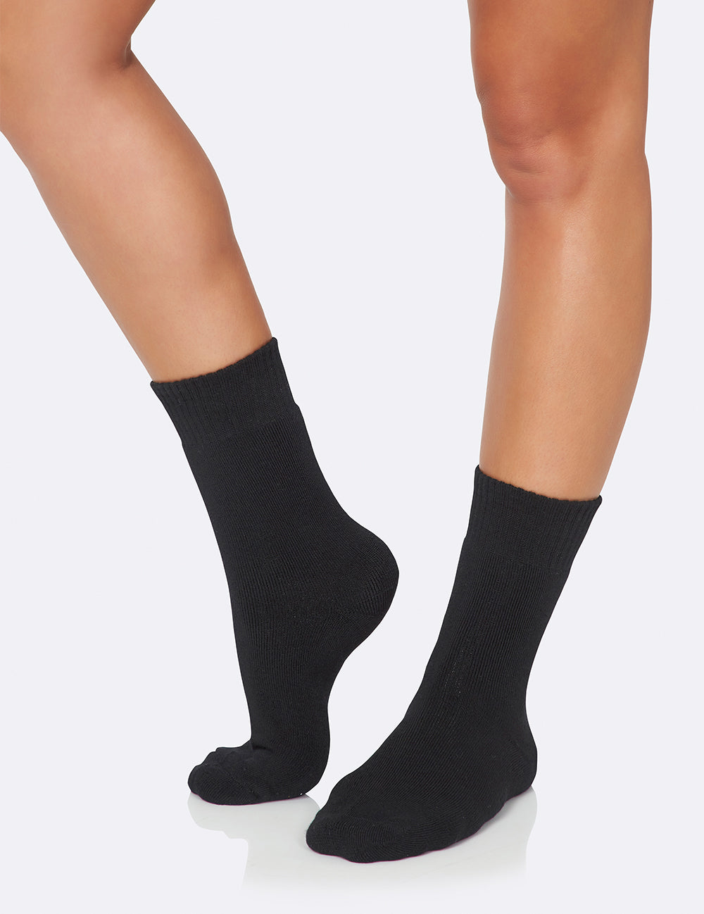 Women's Crew Boot Socks - Black/34-40