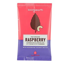 Raspberry Cashew Mylk Chocolate - 16 x 30g