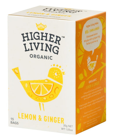 Lemon & Ginger Tea - 4 x 15 teabags