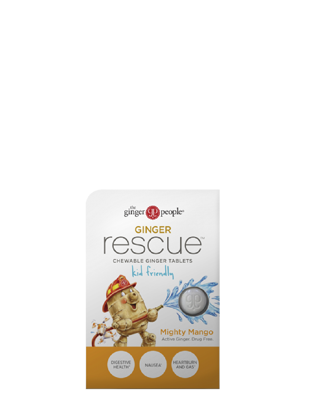 Ginger Rescue Chewable Ginger Tablets Mighty Mango - 10 x 24 tablets