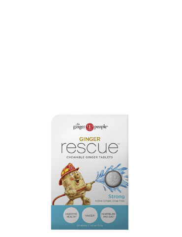 Ginger Rescue Chewable Ginger Tablets Strong - 10 x 24 tablets