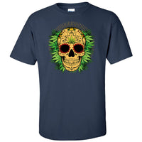 Skull With Weed