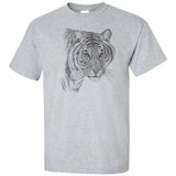 Black and White Tiger Head