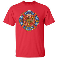 Fire Rescue Red and Blue Badge