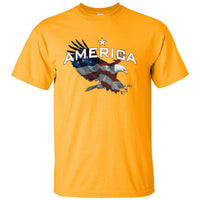 American Eagle Colored with American Flag