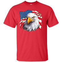 American Eagle and Flag