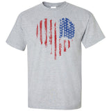American Vertical Heart Flag