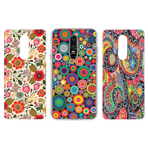 new product a64a9 b8ff4 OnePlus 6 Funky & Trendy Girls Design Interchangeable Inserts with Case-  Set of 3
