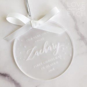 """MISCARRIAGE/STILLBIRTH MEMORIAL"" PERSONALISED CHRISTMAS BAUBLE"