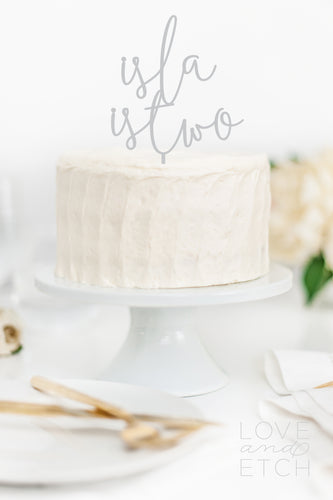 CUSTOM NAME AND AGE - CAKE TOPPER