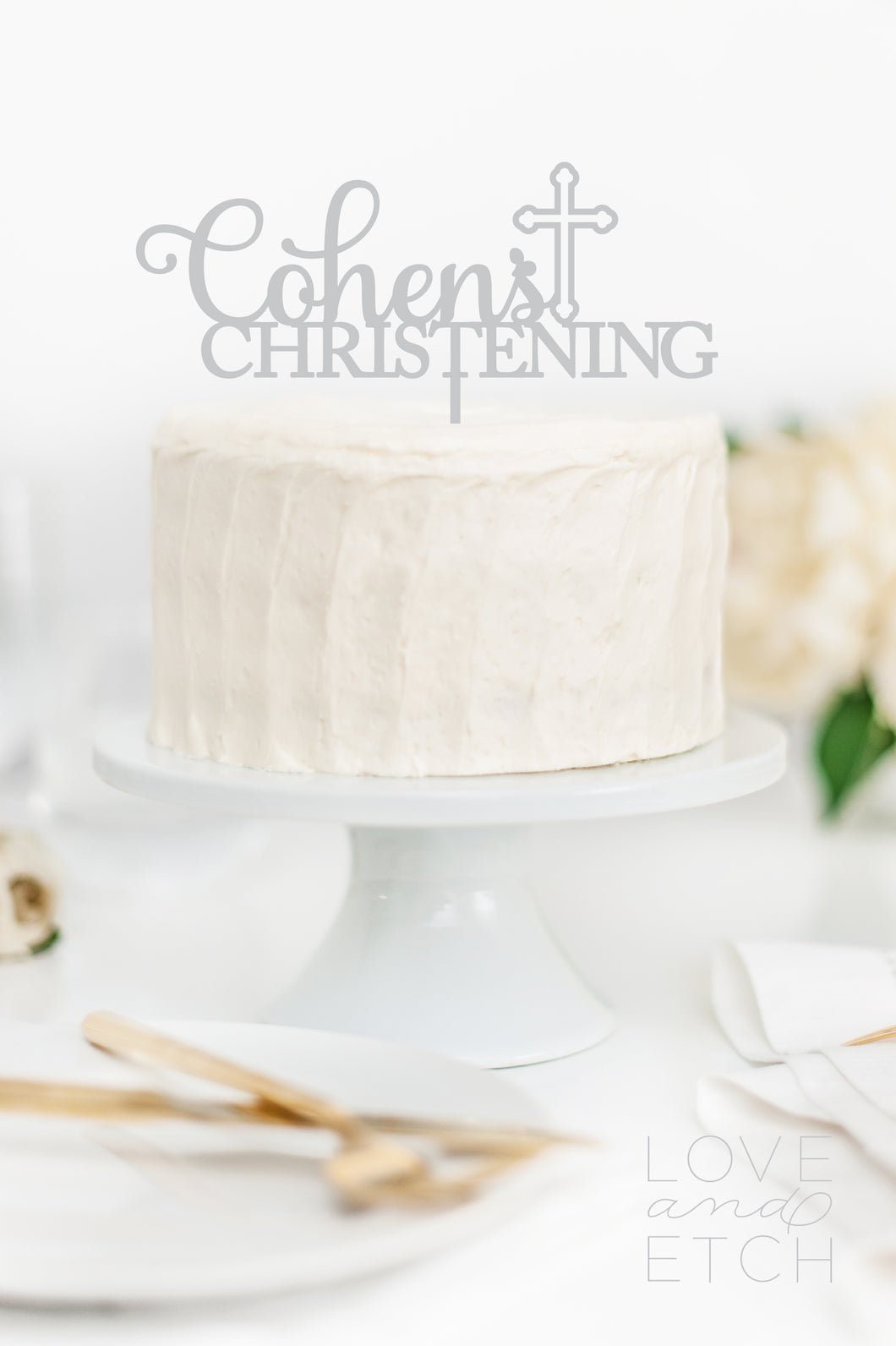 CUSTOM NAME CHRISTENING - CAKE TOPPER