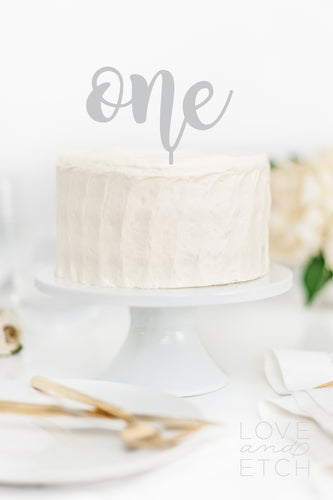 ONE - CAKE TOPPER