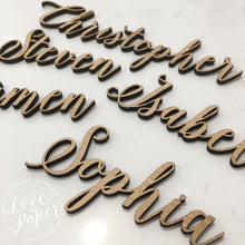 LASER CUT CUSTOM NAME PLACE CARDS