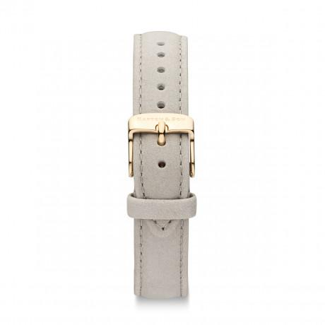 "Leather Strap ""Grey Velvet Leather"" Joy"