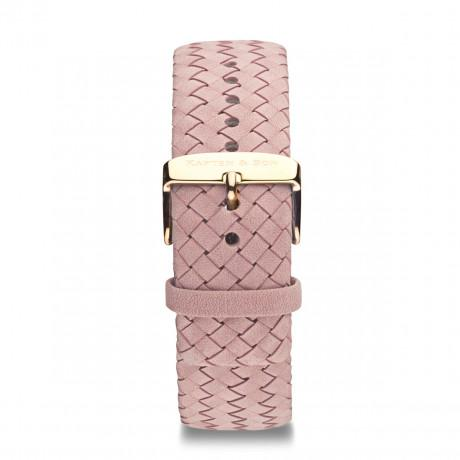 "Leather Strap ""Rose Woven Leather"""