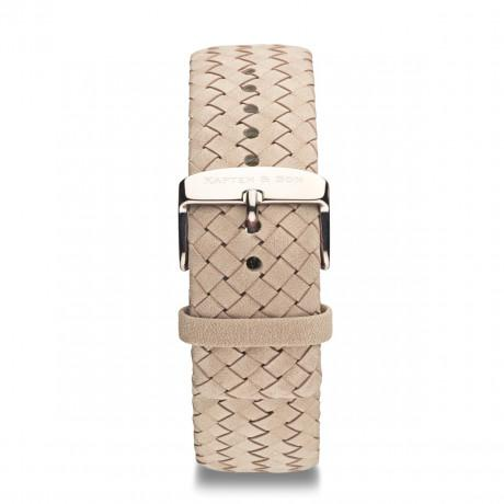 "Leather Strap ""Sand Woven Leather"""