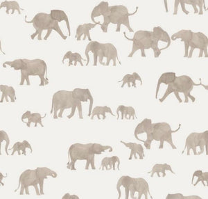 Elephant french terry knit cotton fabric family fabric