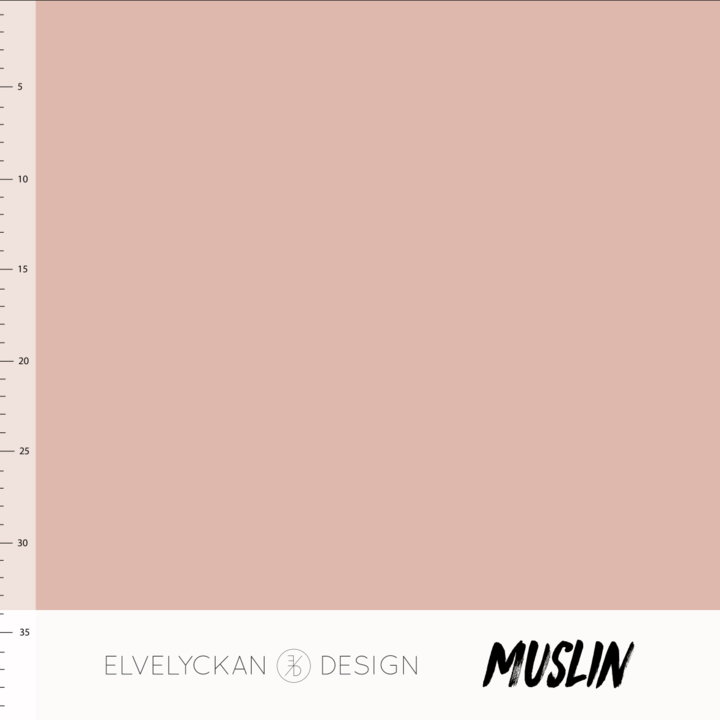 Solid dusty pink cotton muslin elvelyckan design