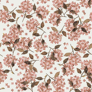 Hortensia Rosy cotton jersey knit fabric family fabric