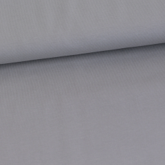 Solid gray organic cotton jersey knit fabric
