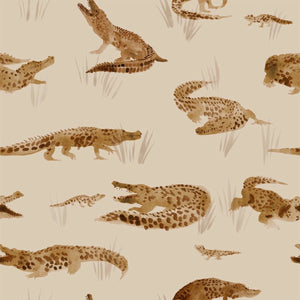 Crocodile cotton jersey knit fabric family fabrics