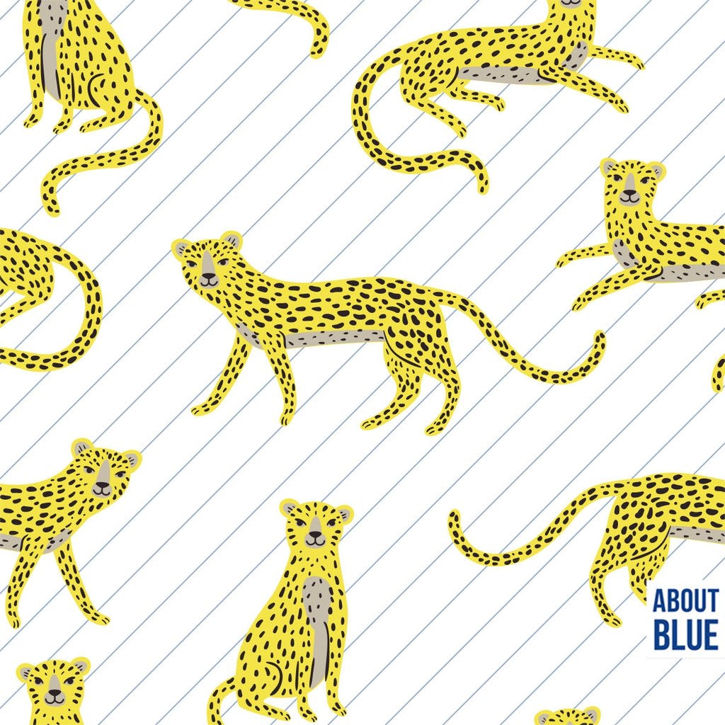 Say cheetah cotton french terry knit fabric