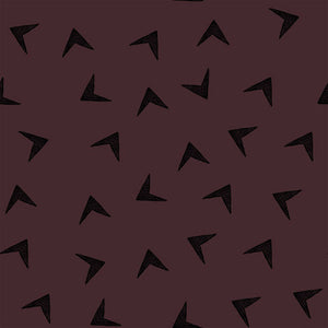 Arrowhead in tawny Bordeaux organic french terry cotton jersey knit fabric