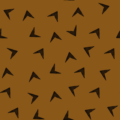 Arrowhead in burnt ochre organic cotton jersey knit fabric
