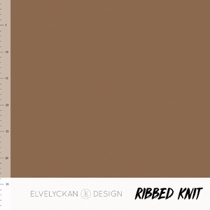 Nutmeg RIBBED knit cotton fabric elvelyckan design