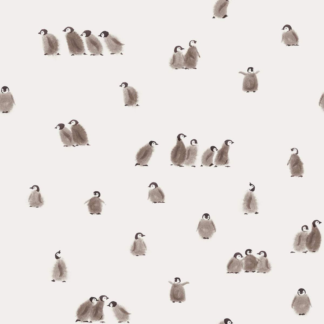 Penguins cotton jersey knit fabric family fabric