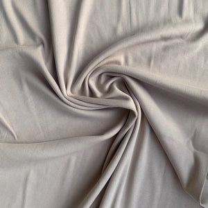 Solid Shadow gray RIBBED knit cotton fabric family fabric