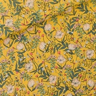 Summer flowers in yolk yellow lycra swimsuit material