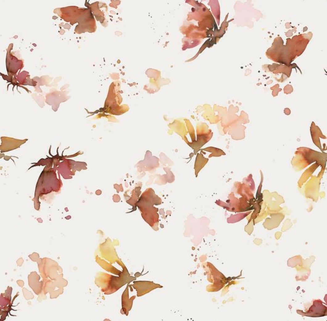 Butterflies cotton jersey knit fabric family fabric