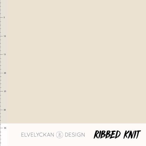 Cream RIBBED knit cotton fabric elvelyckan design