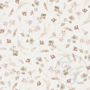 Romantic dried flowers ribbed knit cotton fabric family fabric