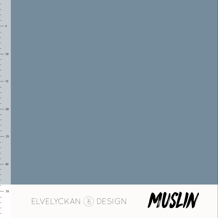 Solid blue cotton muslin elvelyckan design