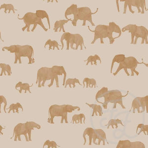 Brazilian elephant cotton jersey knit fabric family fabric