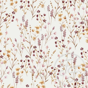 Meadow french terry knit cotton fabric family fabric