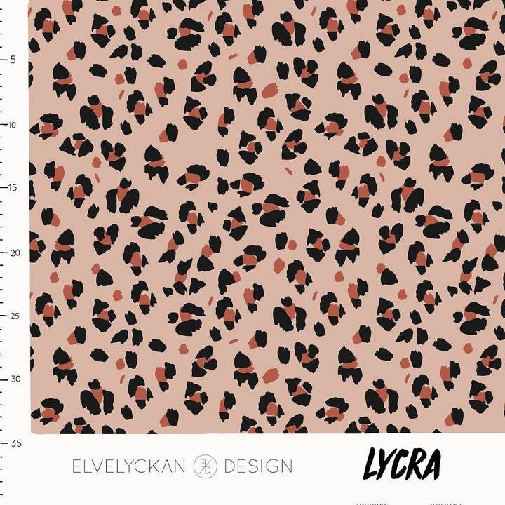 Lynx dots in dusty pink lycra swim fabric or activewear