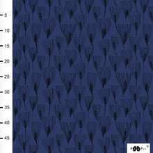 Barley in blueberry organic cotton jersey knit fabric