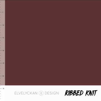 Wine RIBBED knit cotton fabric elvelyckan design