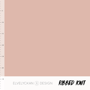 Dusty pink RIBBED knit cotton fabric elvelyckan design