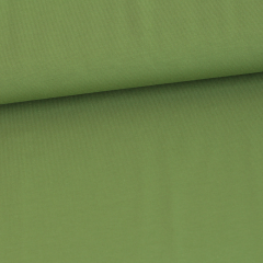 Solid forest green organic cotton jersey knit fabric